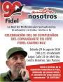 Salvadoreños festejan por todo lo alto el cumpleaños 90 del líder de la Revolución cubana y delatinoamérica.