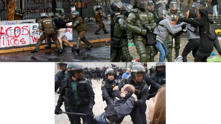 Represión en España, Colombia y..